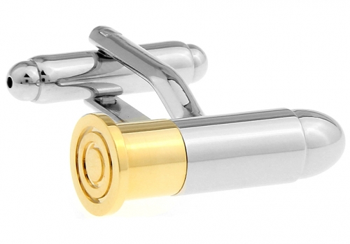 Silver and Gold Bullet Cufflinks