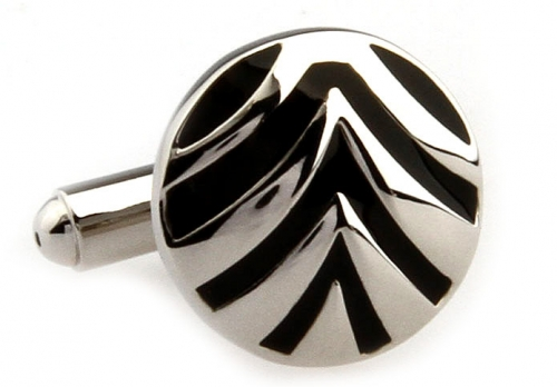 Silver Chevron Cufflinks