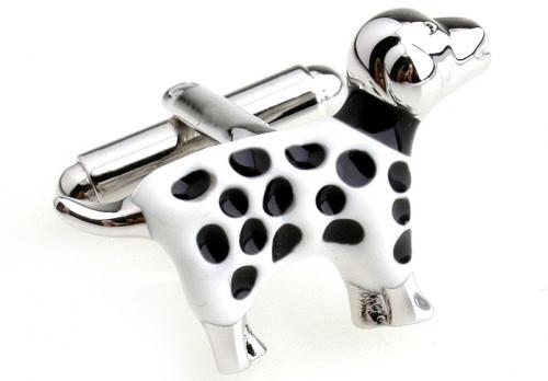 Silver Dalmatian Cufflinks