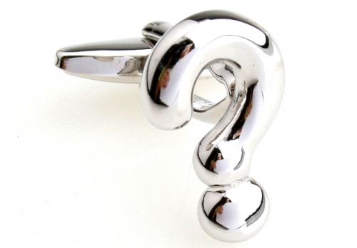 Silver Question Mark Cufflinks