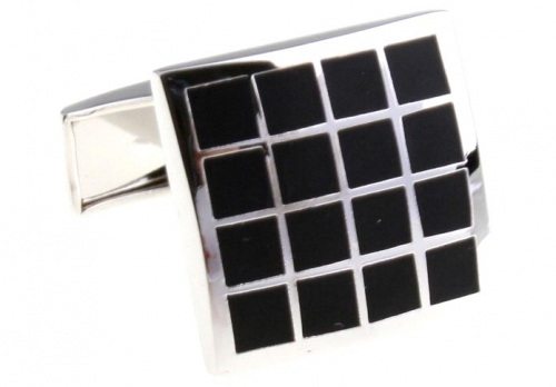 Black Grid Cufflinks