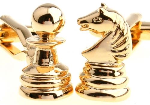 Gold Chess Pieces Cufflinks