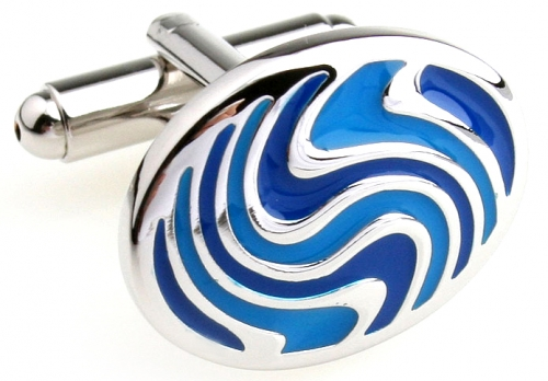 Blue Whirl Cufflinks