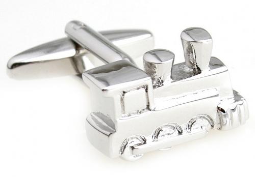 Silver Train Cufflinks