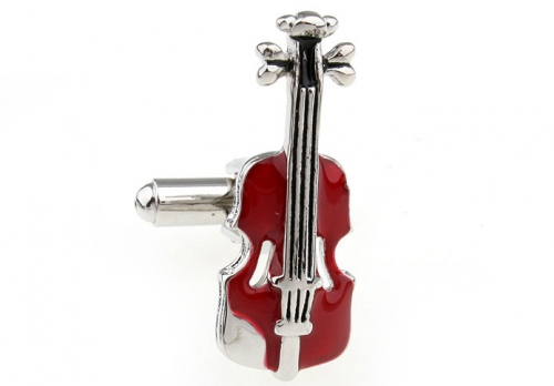 Red Violin Cufflinks