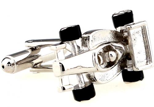 Silver Formula One Cufflinks