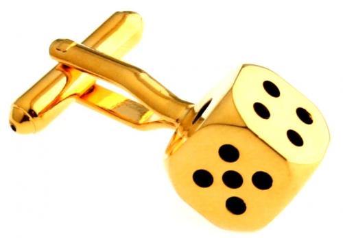 Gold Dice Cufflinks