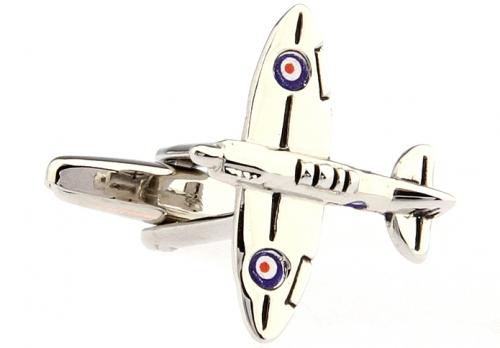 Silver WWII Spitfire Cufflinks
