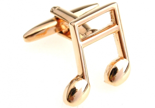 Gold Music Note Cufflinks