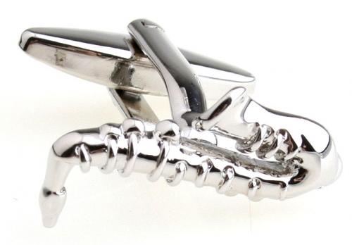 Silver Saxophone Cufflinks