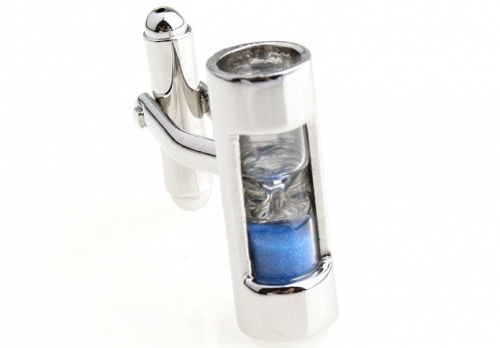 Blue Hour Glass Cufflinks