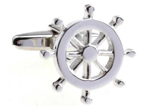 Silver Helm Cufflinks