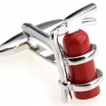 Red Fire Extinguisher Cufflinks