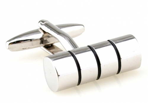 Three Stripe Cylinder Cufflinks