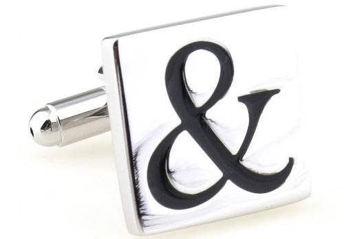 Silver Ampersand Symbol Cufflink