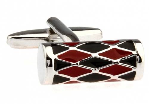 Red and Black Harlequin Cufflinks