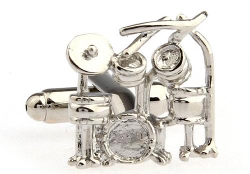 Silver Drum Cufflinks