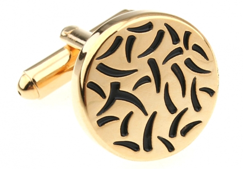 Gold Flicks Cufflinks