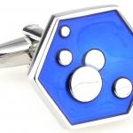 Blue Hexagon Bubble Cufflinks