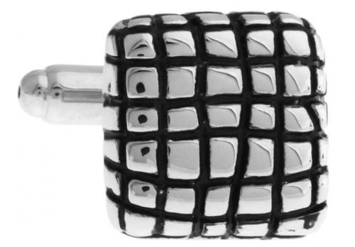 Silver Mesh Cufflinks