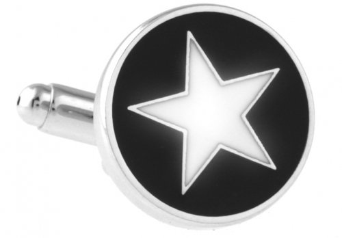 Black and White Star Cufflinks