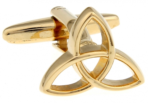 Gold Triquetra Cufflinks
