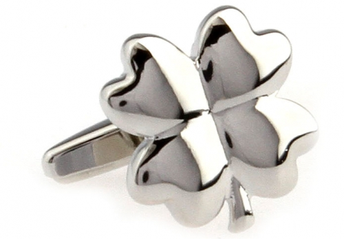 Silver Four Leaf Clover Cufflinks