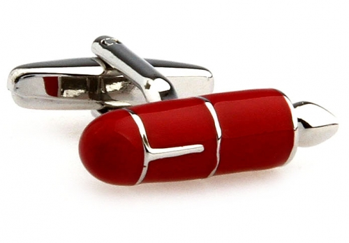 Red Fountain Pen Cufflinks