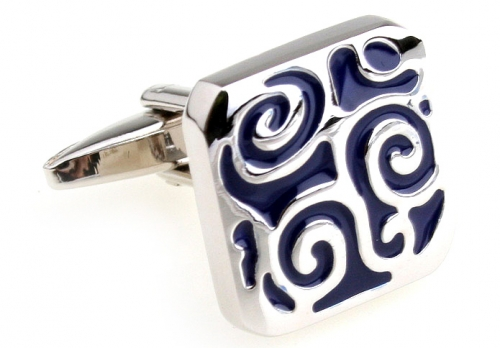 Blue Swirl Cufflinks