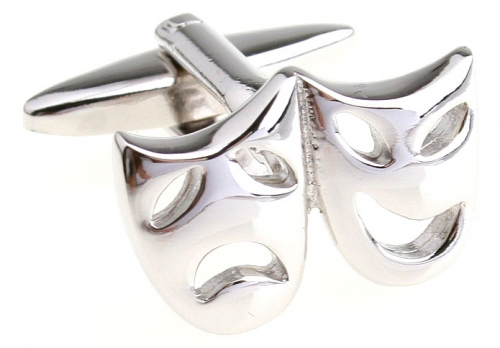 Silver Comedy Tragedy Cufflinks