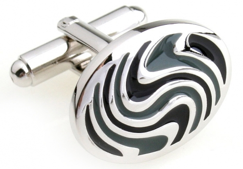 Grey Whirl Cufflinks