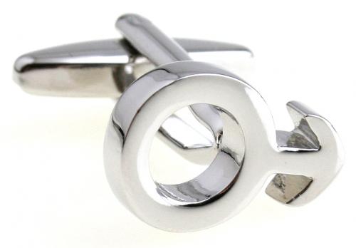 Silver Male Symbol Cufflinks