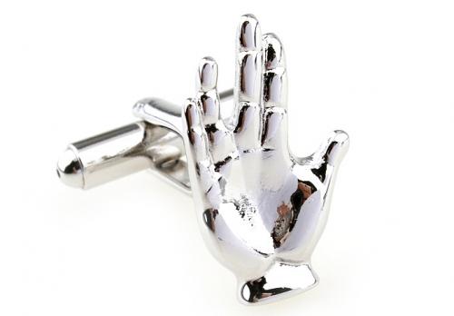 Silver Hand Cufflinks