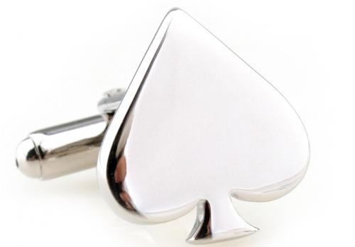 Silver Spades Cufflinks