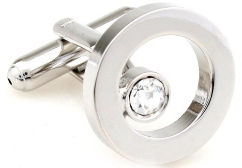 Silver Gem Ring Cufflinks