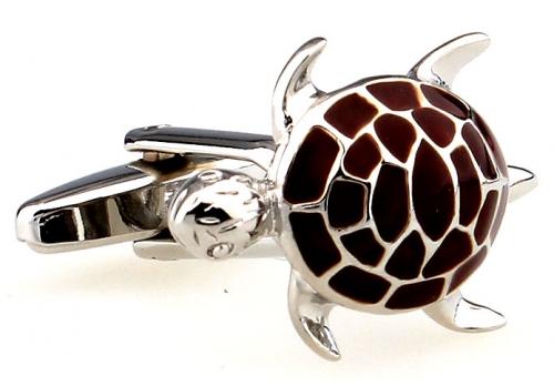 Brown Turtle Cufflinks