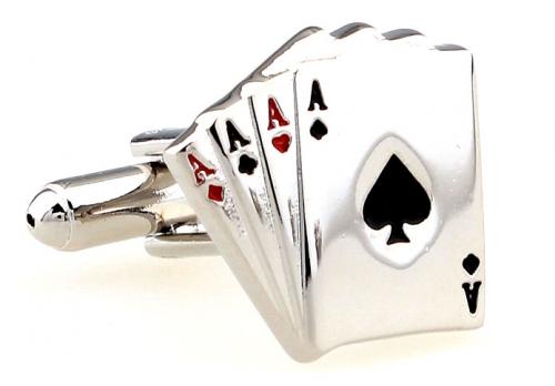Silver Aces Cufflinks