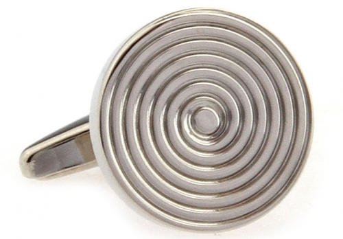 Silver Concentric Circles Cufflinks