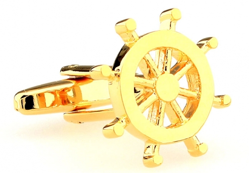 Gold Helm Cufflinks
