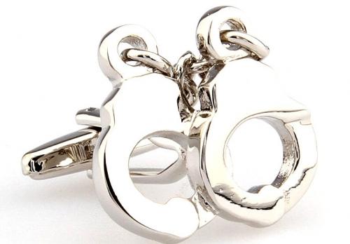 Silver Handcuff Cufflinks