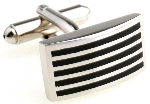 Black Stripe Cufflinks