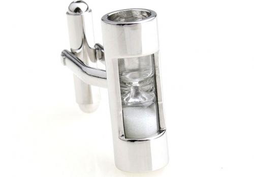 White Hour Glass Cufflinks