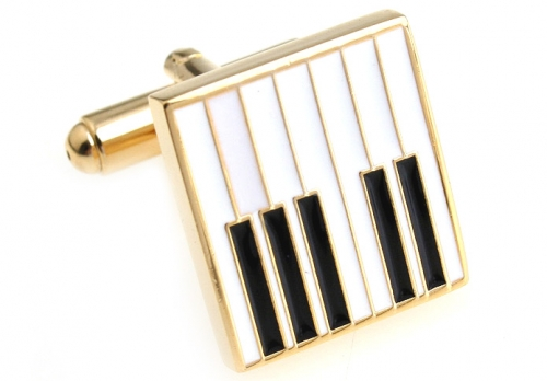 Gold Piano Keyboard Cufflinks