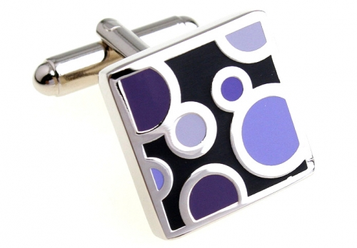 Square Purple Spots Cufflinks