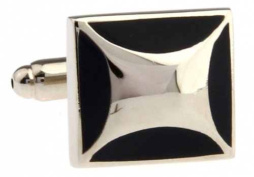 Black Bevel Cufflinks