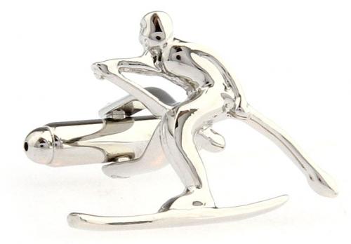 Silver Skier Cufflinks