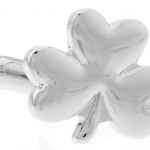Silver Three Leaf Clover Cufflinks
