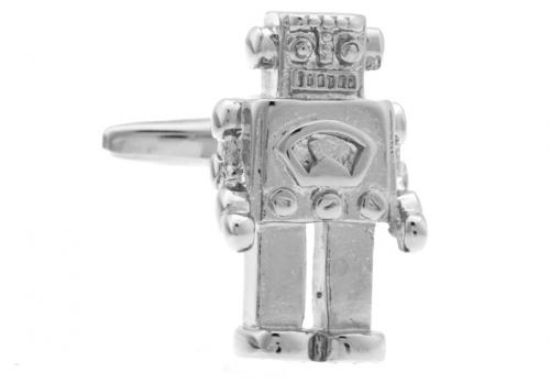 Silver Robot Cufflinks