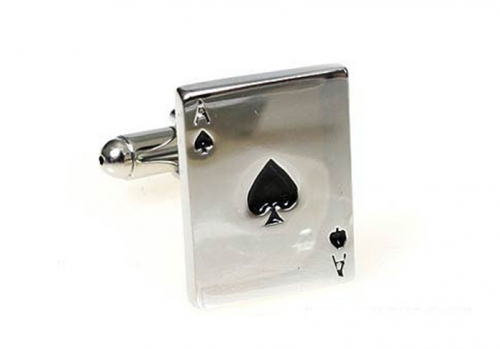 Silver Ace of Spades Cufflinks